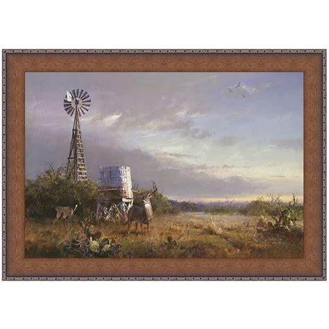 windmill deer canvas art