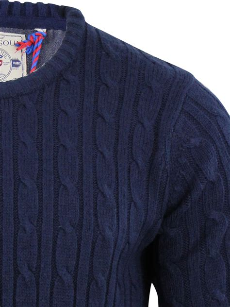 cable sweater mens mens navy cable knit jumper crochet and knit