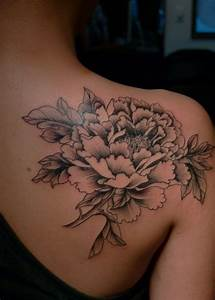 White and black flower tattoo - TattooMagz