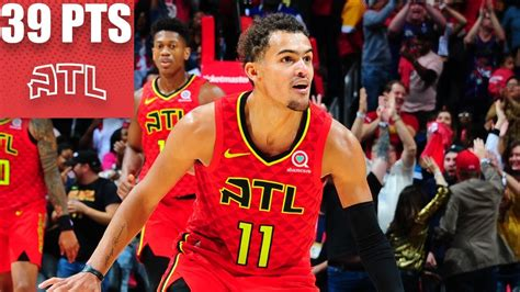 Trae Young drops 39 points, including crucial 3-pointer ...