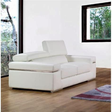 canapé blanc design canapé 2 places en cuir blanc design achat vente