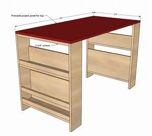 Ana White Kids Storage Leg Desk - DIY Projects