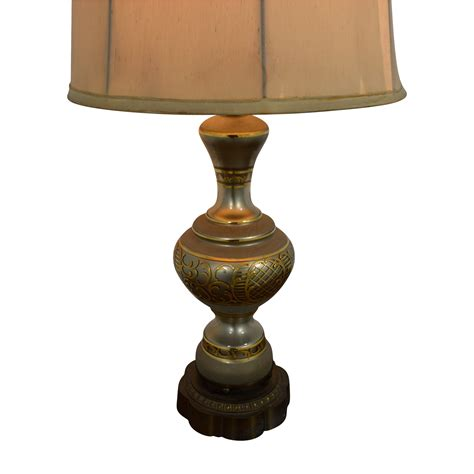77% Off  Mid Century Vintage Gold Table Lamp Decor
