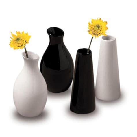Black Bud Vases by American Metalcraft Bvtb7 Black Ceramic Tower Bud Vase