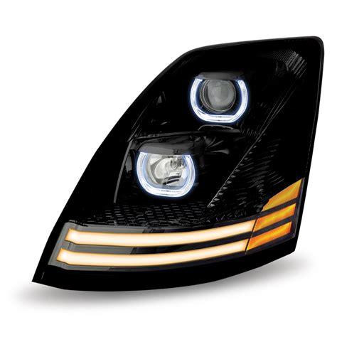 volvo vnvnl black halogen headlight assembly driver side