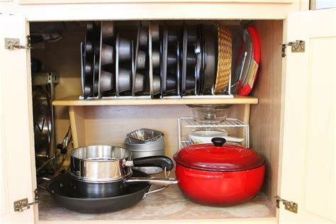 kitchen storage cabinets for pots and pans kitchen cabinet pots and pans organization 12 kevin amanda