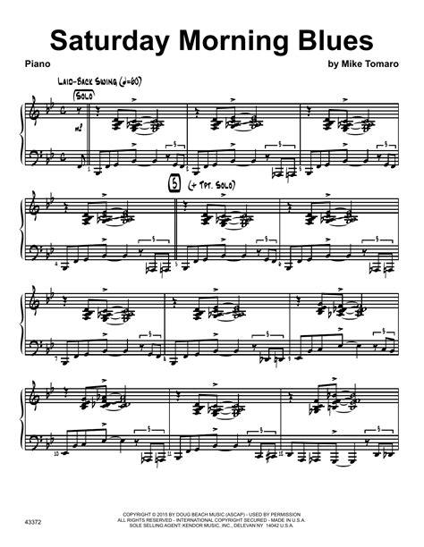 saturday morning blues piano at stanton s sheet music