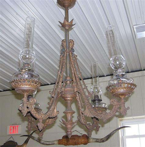 Antique Lantern Chandelier by 1880 S Cast Iron 4 Arm L Hanging Large