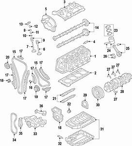 2014 Audi Allroad Engine Rocker Arm  Exhaust  Bearings