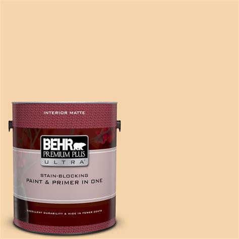 behr premium plus ultra 1 gal ppu6 08 pale honey matte