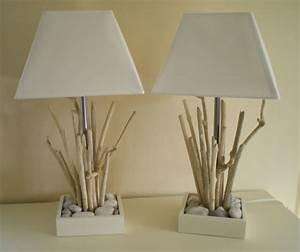 Lampe Chevet Bois Flotté : lampes de chevet en bois flott la belle au bois flotte ~ Teatrodelosmanantiales.com Idées de Décoration