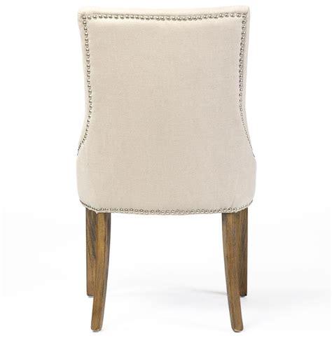 selena regency nailhead linen dining chair