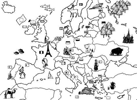 Europa Kleurplaat kleurplaat europa thema de wereld rond de wereld