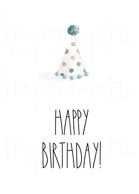 rae dunn inspired printable birthday card  happy