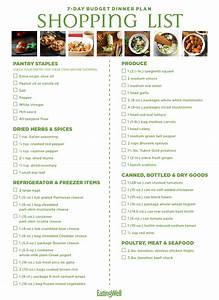 Diet Diet Meal Plans Weekly Plans Weekly Healthy 7 Day Budget Meal Plan Shopping List Eatingwell
