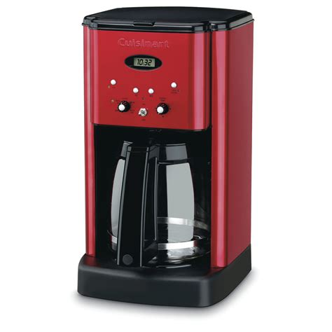 Shop Cuisinart 12 Cup Red Programmable Coffee Maker at Lowes.com