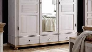 Kleiderschrank Antik Weiß : kleiderschrank oslo kiefer massiv wei antik 3 trg mit spiegel ~ Frokenaadalensverden.com Haus und Dekorationen
