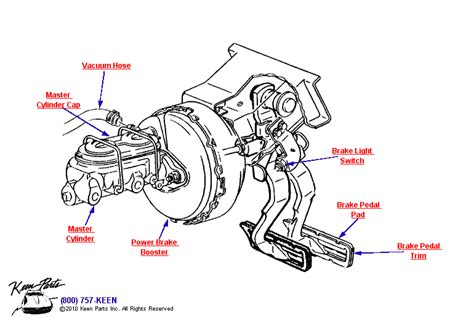 Wiring Diagram For Brake Booster by 1972 Corvette Power Brake Pedal Booster Parts Parts
