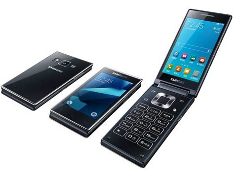 flip android phone samsung unveils g9198 the dual screen android flip phone