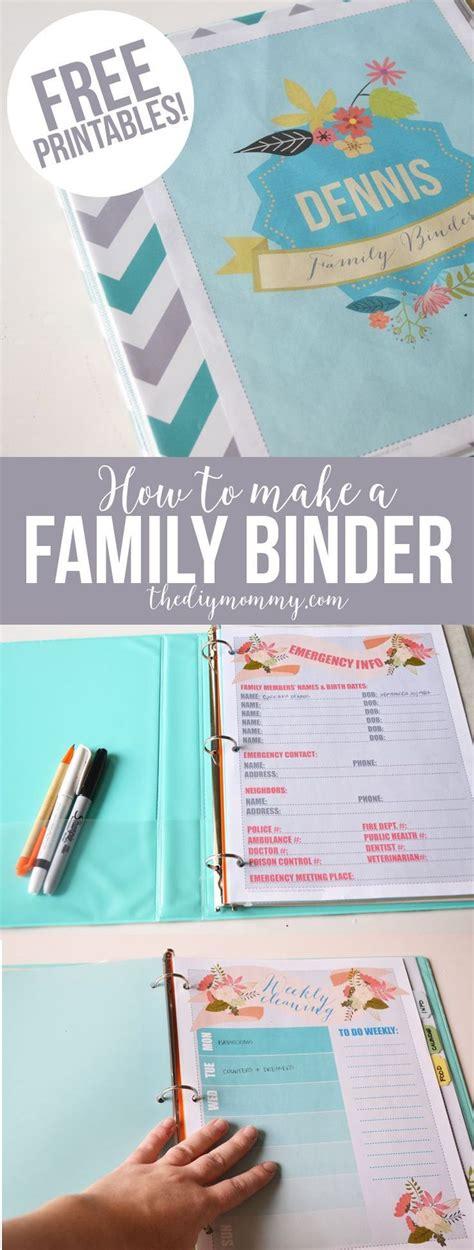 household organization binder   floral