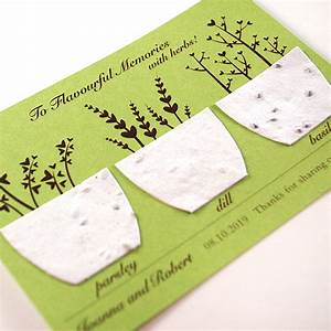 plantable flavorful memories herb favor plantable seed With plantable seed wedding favors