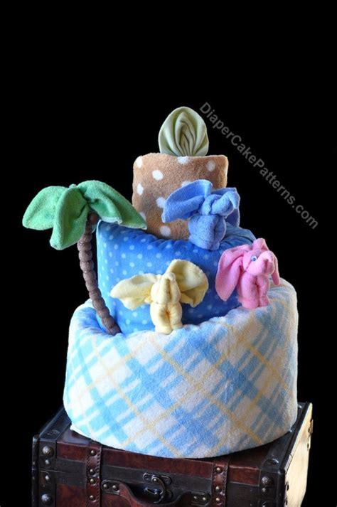 jungle themed diaper cake washcloth animal video bundle