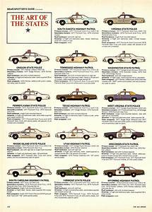1977 Car And Driver State Police Cruiser Spotter U0026 39 S Guide