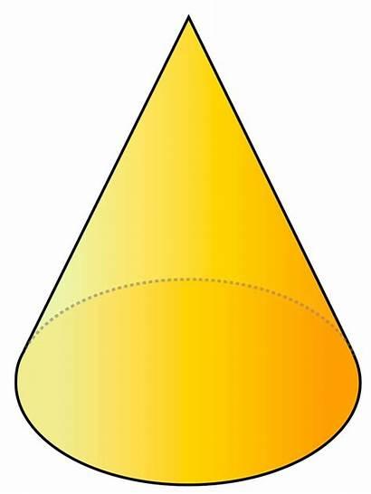 Cone Shaped Shape Shapes Objects Bentuk 3d