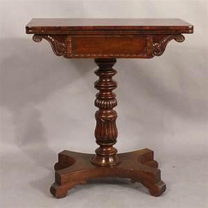 small, regency, mahogany, tea, table, -, antique, tables