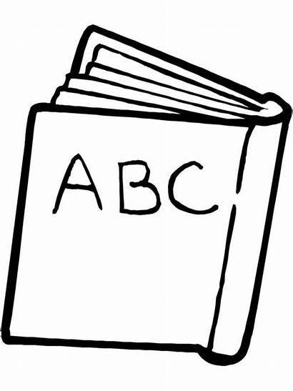 Coloring Abc Clipart Pages Supplies Cliparts Line