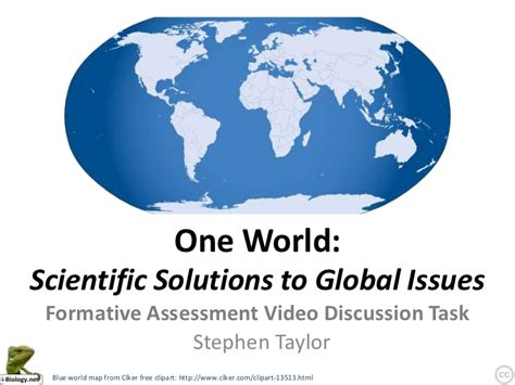 one world scientific solutions to global issues
