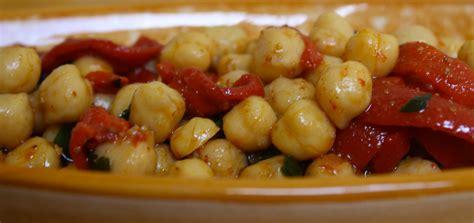cuisine pois chiche salade de pois chiche et poivrons cuisine du maghreb