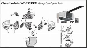 Chamberlain 1 2 Hp Chain Drive Garage Door Opener Parts