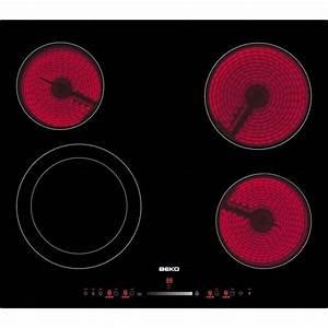 Plaque Vitro Céramique : beko hic64502t table vitro achat vente plaque vitroc ramique cdiscount ~ Melissatoandfro.com Idées de Décoration