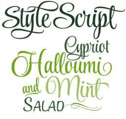 Script-Style Font Sample