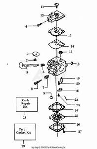Poulan 920 Gas Blower Parts Diagram For Carburetor