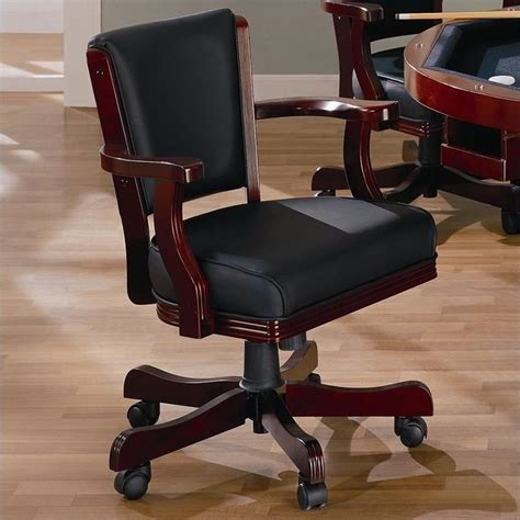 coaster mitchell upholsted arm chair with casters in
