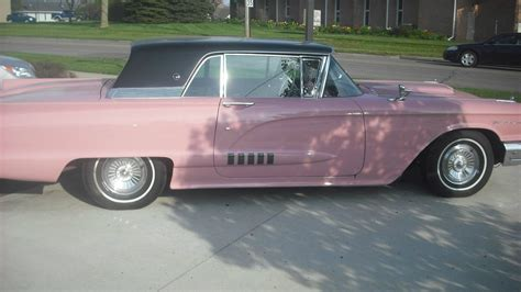 Pink Black 1958 Ford Thunderbird