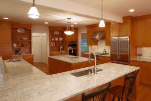 kitchen islands with sink and seating kashmir white granite countertops kitchen traditional with