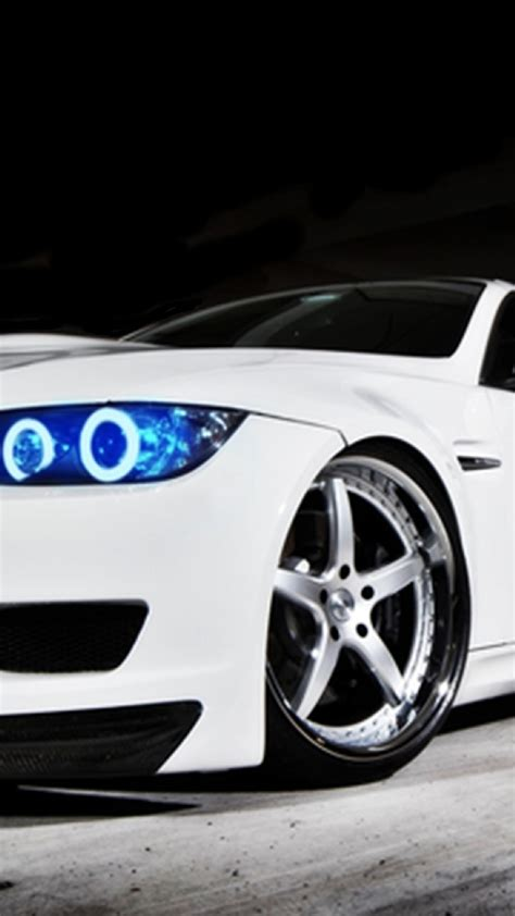 Bmw White Blue Headlights Iphone Plus Wallpaper