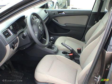 Latte Macchiato Interior 2011 Volkswagen Jetta S Sedan