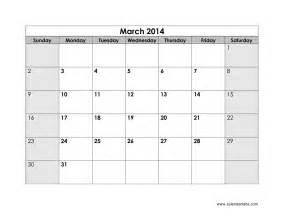 Blank Calendar Print Outs