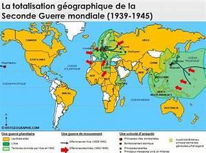 Planisphère Noir Et Blanc : carte de la totalisation g ographique de la seconde guerre mondiale 1939 1945 source ~ Melissatoandfro.com Idées de Décoration