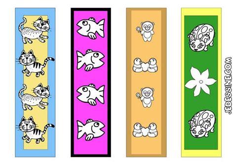 marque page animaux coloriages 4 signets d animaux semi color 233 s fr hellokids