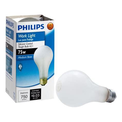 philips 75 watt incadscent a21 tuff guard light bulb