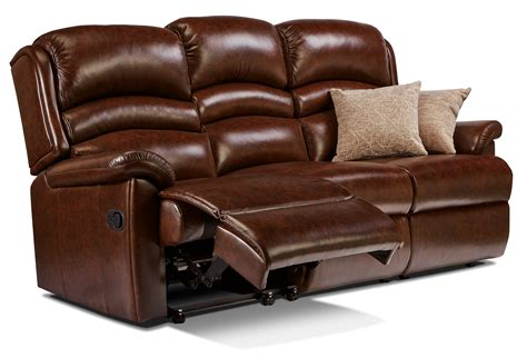 Recliner Settees by Standard Leather Reclining 3 Seater Settee