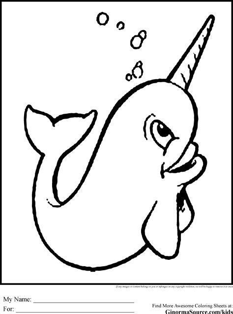 cute narwhal coloring pages mm pp pinterest
