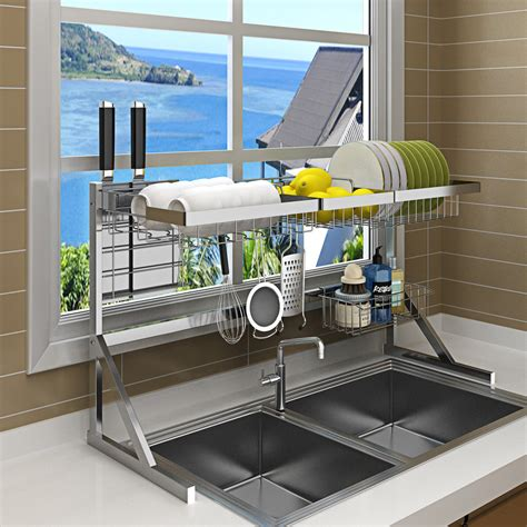 Product Of The Week Dish Rack Sink by Kitchen Racks Household Stainless Steel Sink Dishes