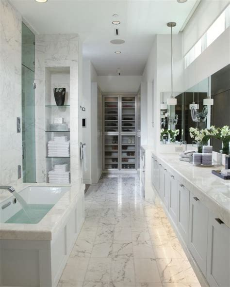 White Spa Bathroom by All White Spa Bathroom Is Bright Luxurious Hgtv