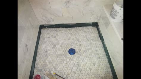 marble carrara tile bathroom part  installing  shower